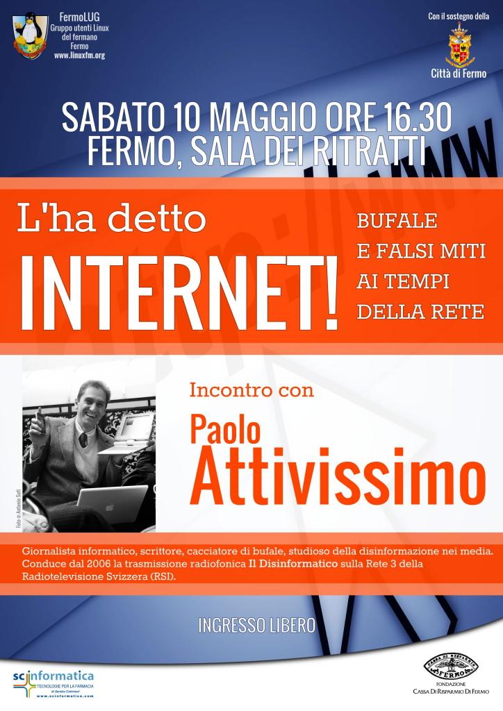 Bufale e complotti in rete. Ne parliamo con Paolo Attivissimo.